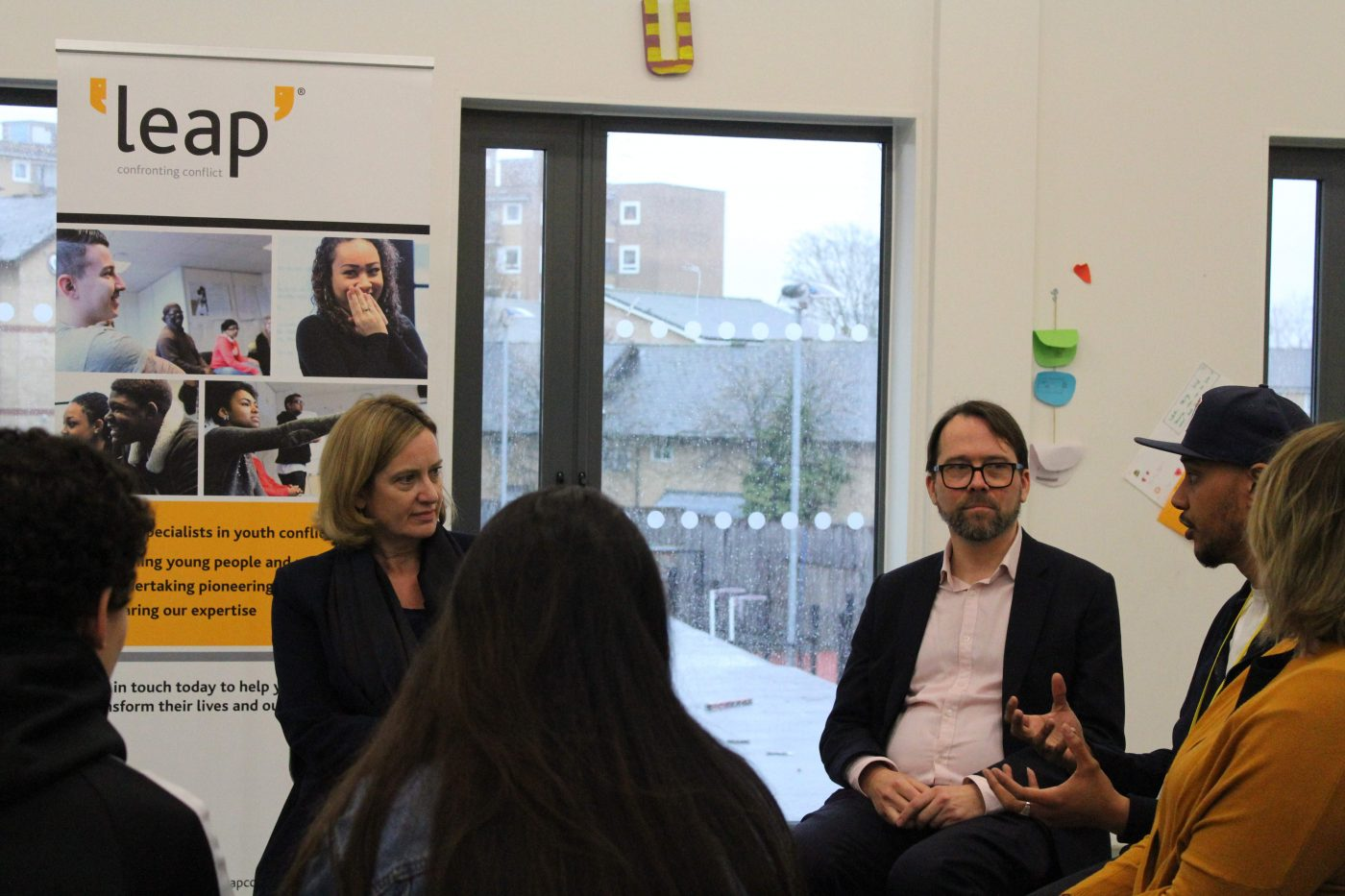 Home Secretary Amber Rudd visits the Qube